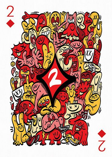 Deck of cards by 55 artists — Playing Arts Project