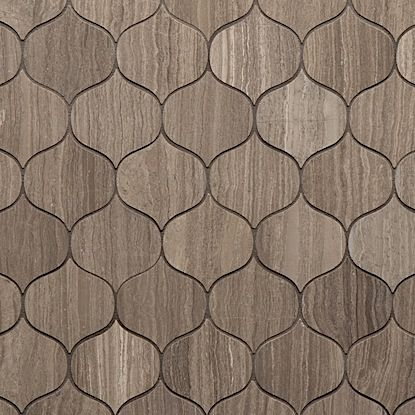 The Jet Set collection from Walker Zanger channels mid century glamour with a stunning collection of intricately realized patterns, which subtlety incorporate design aesthetic from all over the globe. Walker Zanger Rendezvous Mocha Decorative Stone