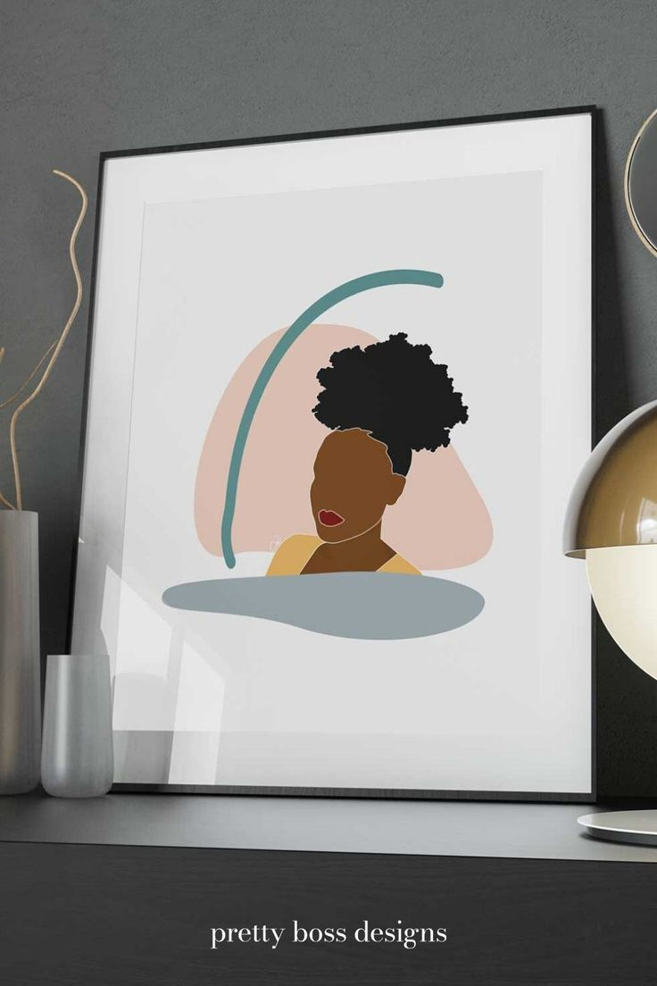 Black Girl Wall Art African American Woman Poster Digital Download African American Wall Art Girls Wall Art Art Prints