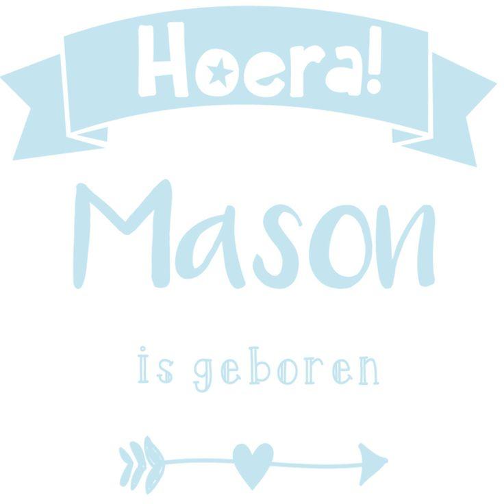 Geboortesticker type Mason