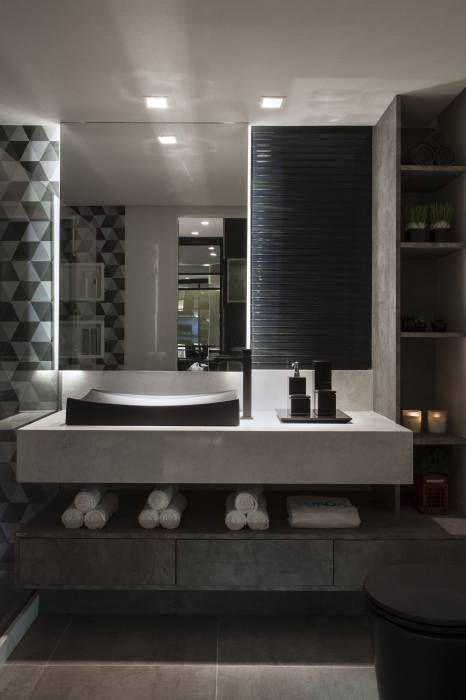 Lavabos e Banheiros: Banheiros Minimalista por Celia Beatriz Arquitetura