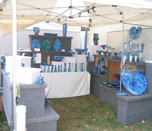 41 best images about pottery displays on pinterest for How to set up a booth at a craft show