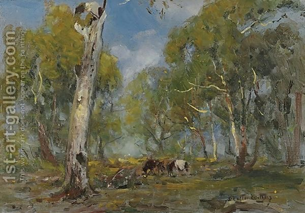 Walter Withers:Landscape with Cattle
