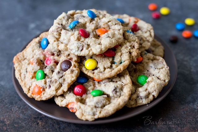 These colorful Boyfriend Cookies are loaded with chocolate and good for you crushed oatmeal. They'll be a hit with all your friends both boys and girls.