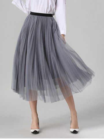 GET $50 NOW   Join RoseGal: Get YOUR $50 NOW!http://m.rosegal.com/skirts/tulle-pleated-midi-a-line-skirt-864364.html?seid=n4ft129rc3kgfj1ii4lonbbpg3rg864364