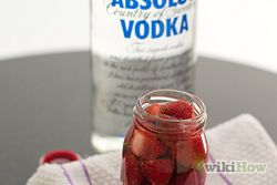 Soak strawberries in whipped cream flavoured vodka for at least 1 hour. Then dip in chocolate!
