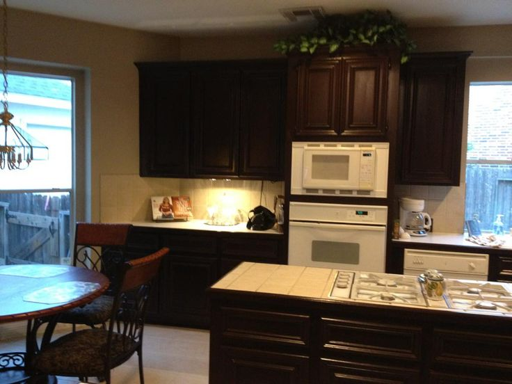 Sherwin williams black bean was a beautiful choice for for Paint choices for kitchen cabinets