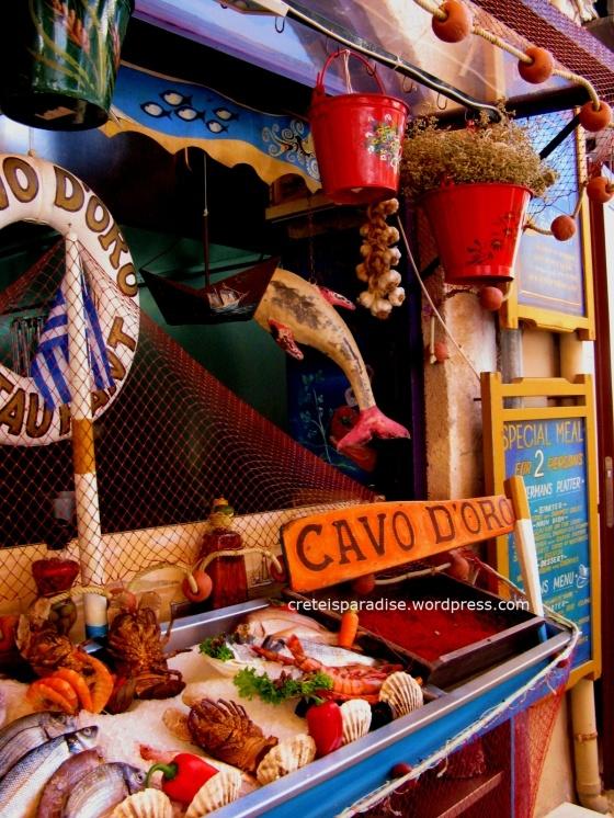 Cavo d'Oro restaurant in Rethymnon, Crete, Greece