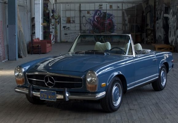 1971 Mercedes Benz 280SL Pagoda Blue For Sale Front
