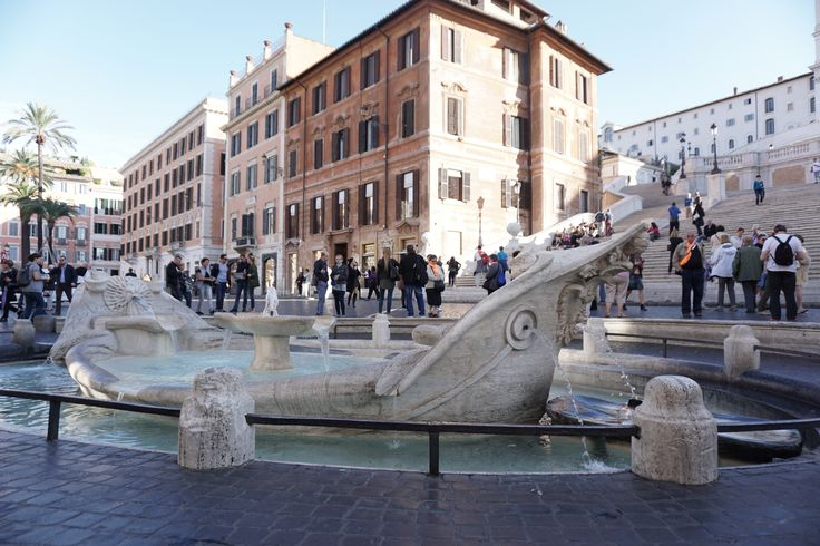 Fountain At The Base Of The Spanish Steps, October 2016.