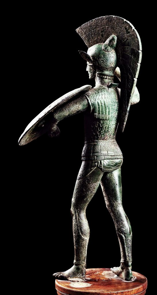Statuetta di Laran, V a.C. Museo Archeologico Nazionale, Firenze. Cultura etrusca