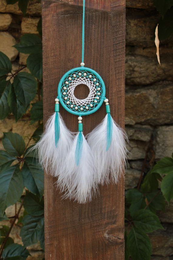 Small dream catcher/Blue dreamcatcher/Pink dreamcatcher/Car dream catcher/Car rear view mirror necklace