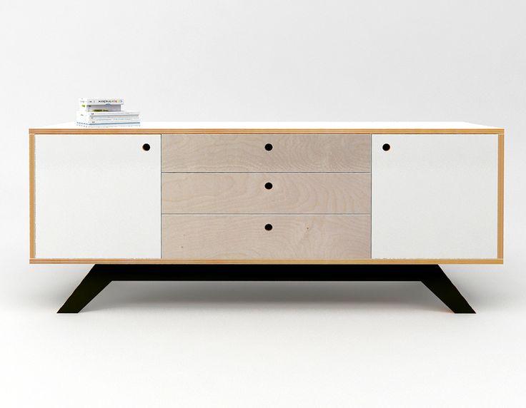 komoda ze sklejki Intterno plywood furniture, meble ze sklejki  #intterno #plywood #cupobard