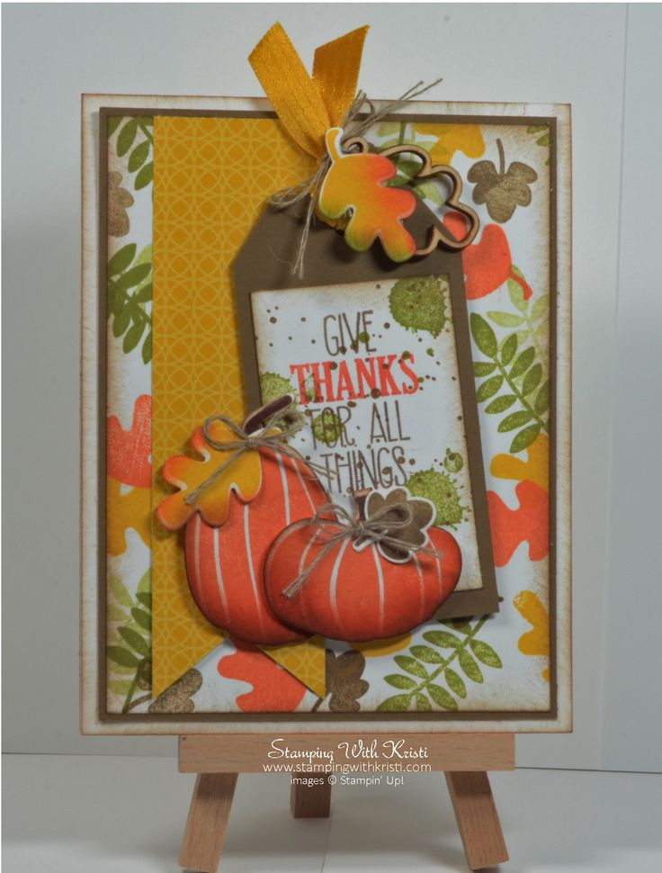 Stampin Up  For All Things and Fall Fest card by Kristi @ www.stampingwithkristi.com