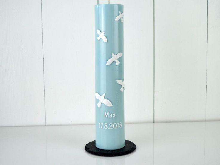 Taufkerzen - Taufkerze  - ein Designerstück von miocolori-Kerzen bei DaWanda