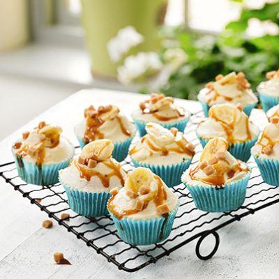 Fairtrade banoffee cupcakes