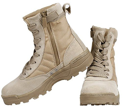 Chariot Trading High Sandyhawk Tactical Boots Lightweight Desert Combat Boots 511 Summer Breathable Boots, Sandy ** You can get more details by clicking on the image.