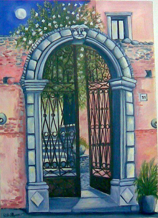 """""""La porta del tempo"""" acrilico su tela 50 x 70 - 2008  autore Natalia Albanese"""