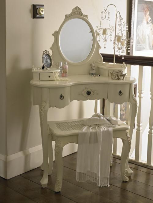'Paris' Kidney dressing table & mirror