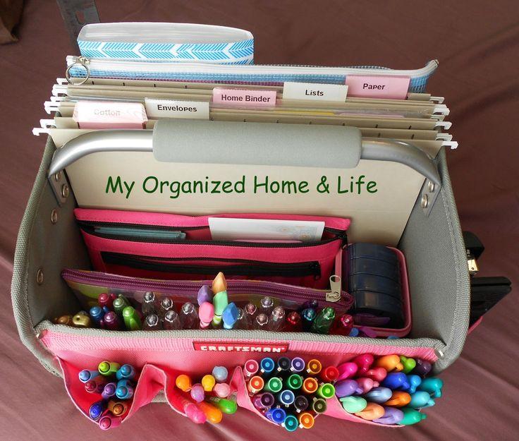 A simply fabulous 'portable office'!  via My Organized Home & Life