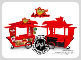 Desain Logo | Logo Kuliner |  Desain Gerobak | Jasa Desain dan Produksi Gerobak | Branding: Desain Gerobak Dorong Mie Awen