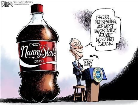 Political Cartoons by Nate Beeler  Enjoy Nanny State Classic
