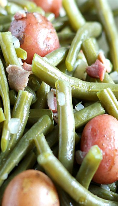 Southern Style Green Beans & New Potatoes