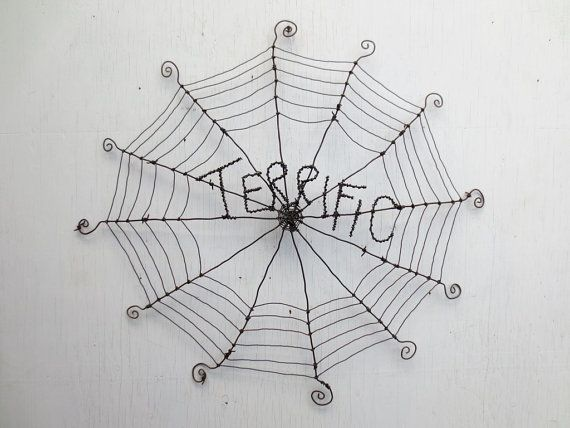 Terrific Charlotte's Web Inspired Barbed Wire by thedustyraven, $75.00