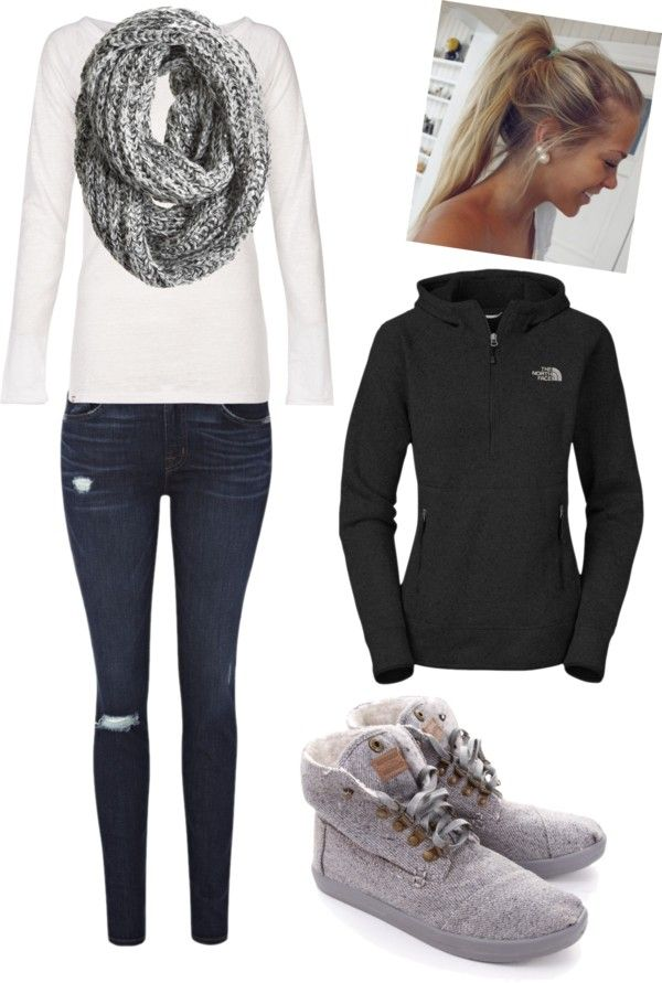 """cold day at school:)"" by reagandunbar ❤ liked on Polyvore"