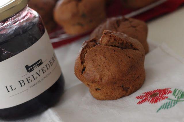 Dal ricettario di Roberta: Muffin con marmellata di mirtilli e gocce di ciocc...