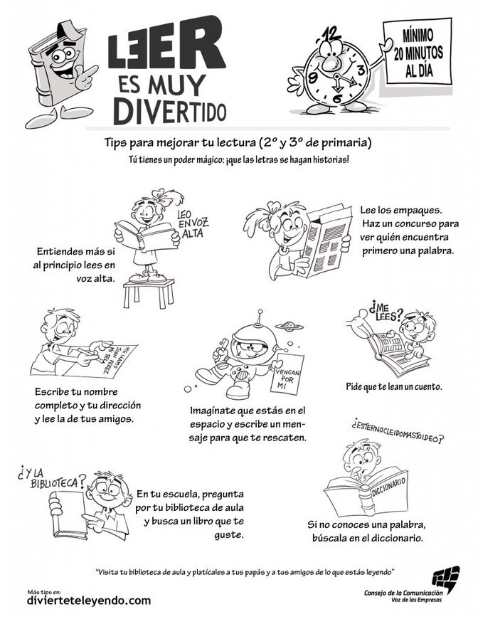 Tips para mejorar tu lectura ( 2° y 3° de primaria )