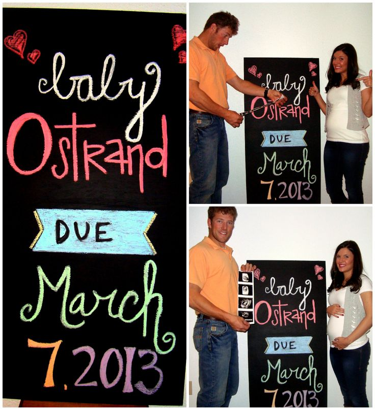Baby Announcement Pregnancy Chalkboard