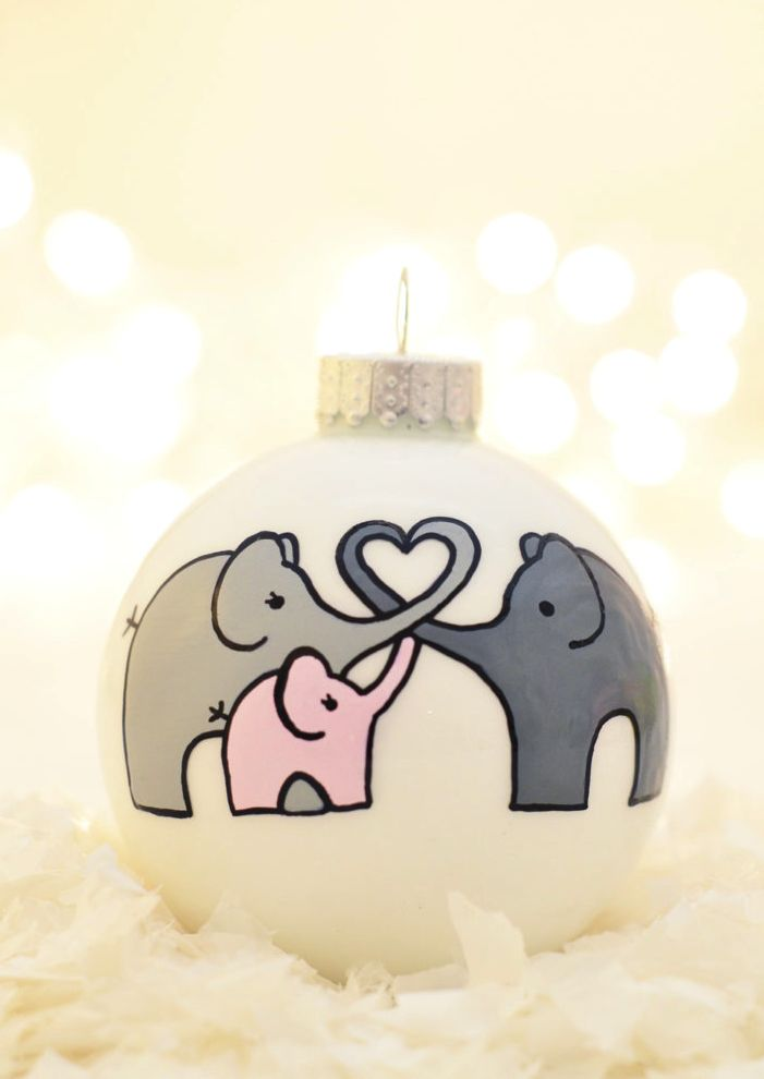 Baby's First Christmas Elephants Ornament