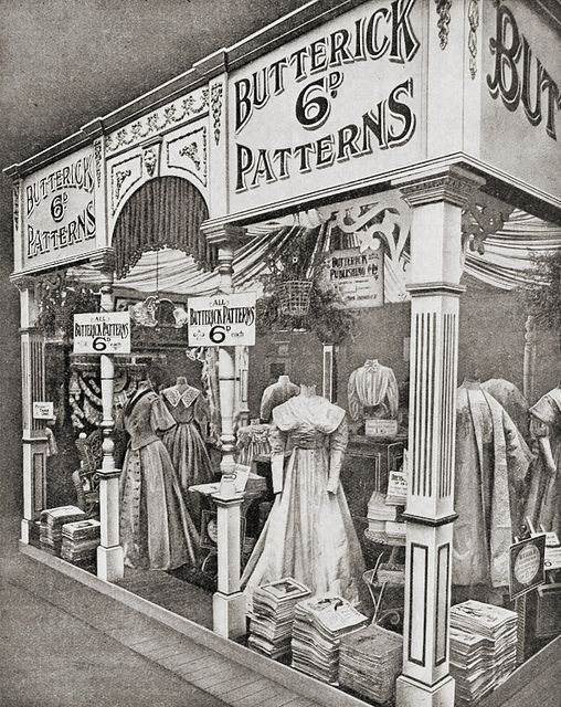Wonderful Edwardian (1908) Butterick Pattern Shop!