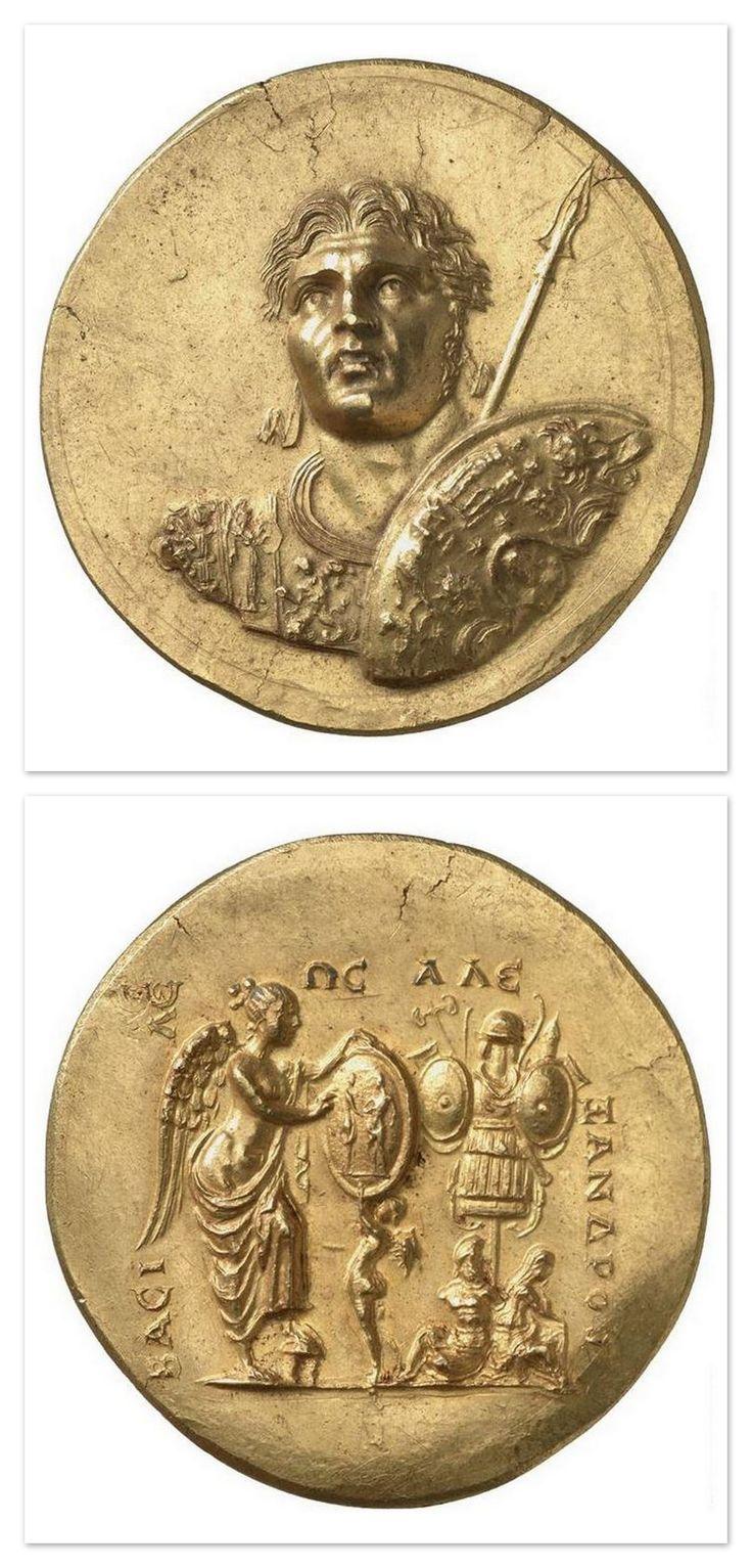 Medallion with the effigy of Alexander the Great - 3rd century. Roman empire (27 B.C-476 A.D). Gold. | Allemagne, Berlin, Münzkabinett (SMPK) - Photo (C) BPK, Berlin, Dist. RMN-Grand Palais / image BPK.