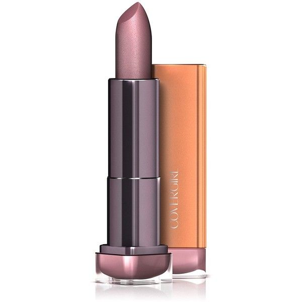 COVERGIRL Colorlicious Rich Color Lipstick Romance Mauve 265, .12 oz ($4.93) ❤ liked on Polyvore featuring beauty products, makeup, lip makeup and lipstick