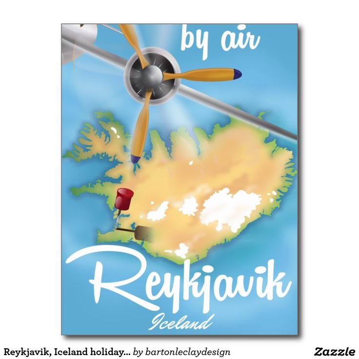 Reykjavik, Iceland holiday travel poster Postcard