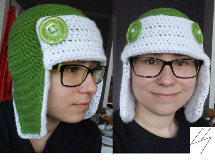 crochet hat for the winter - GREEN