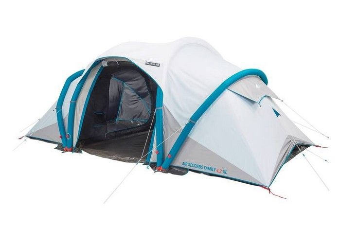 Air Seconds Family 4 2 Xl F B Quechua Pas Cher Tente Decathlon Camping Tente Camping En Tente Tente Familiale