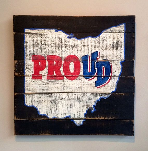University of Dayton / Dayton Proud Wall Hanging on Etsy, $40.00