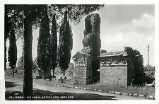 Italy 1930s Real Photo Postcard Roma Rome - Via Appia Antica con Sepolcri