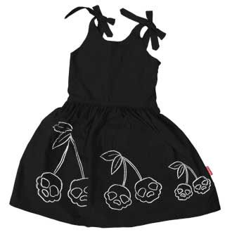 Rockabilly Dress: Cherry Skulls