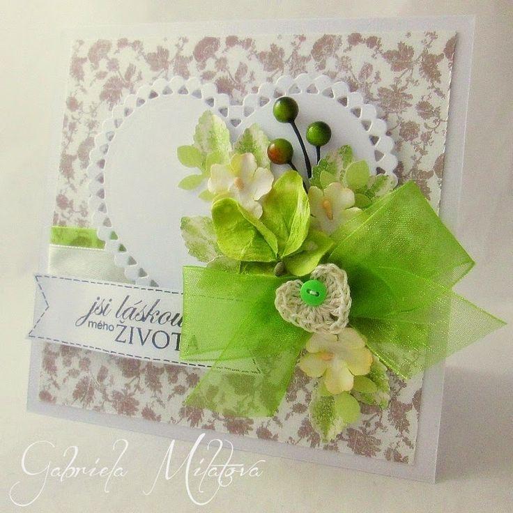Gabi M. craftuje: CARDS Love Heart Peridot card