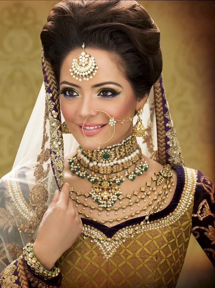www.amouraffairs.in Indian Bride Lehenga gold border zari zardozi wedding, bridal, bride, lehenga, gorgeous, elaborate, wow, pink, golden details, hairstyle, pretty