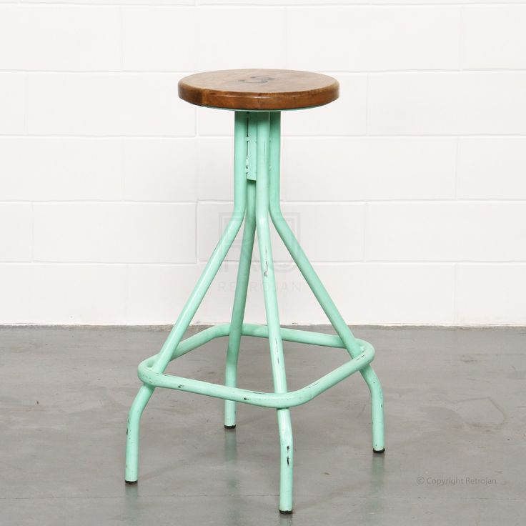 Fogerty Industrial Stool - Mint Green | $99.00