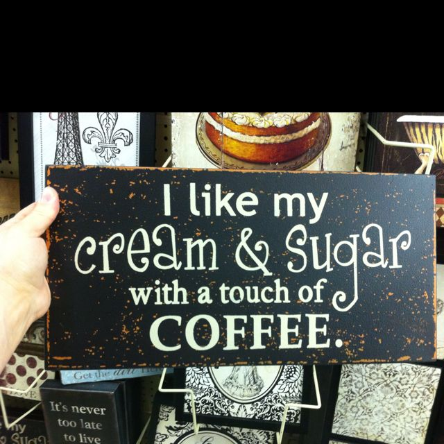 Sign for my coffee bar