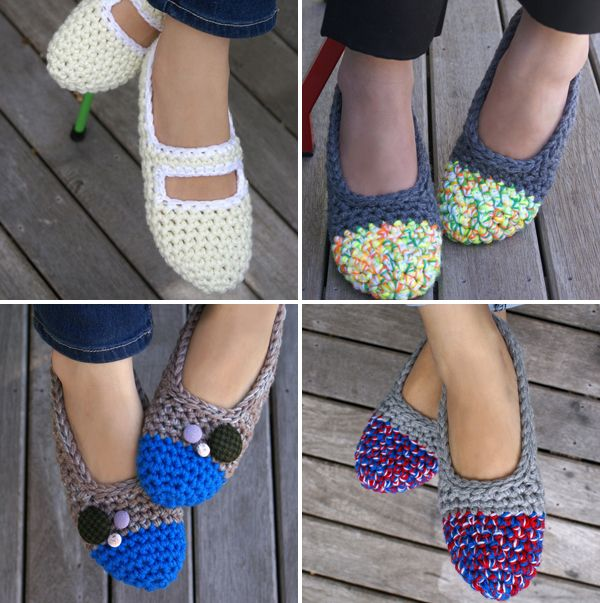 cute crocheted slippers