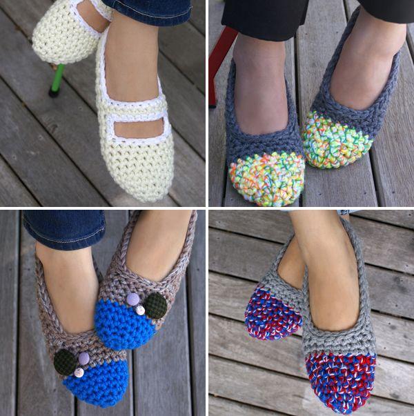 cute crocheted slippers