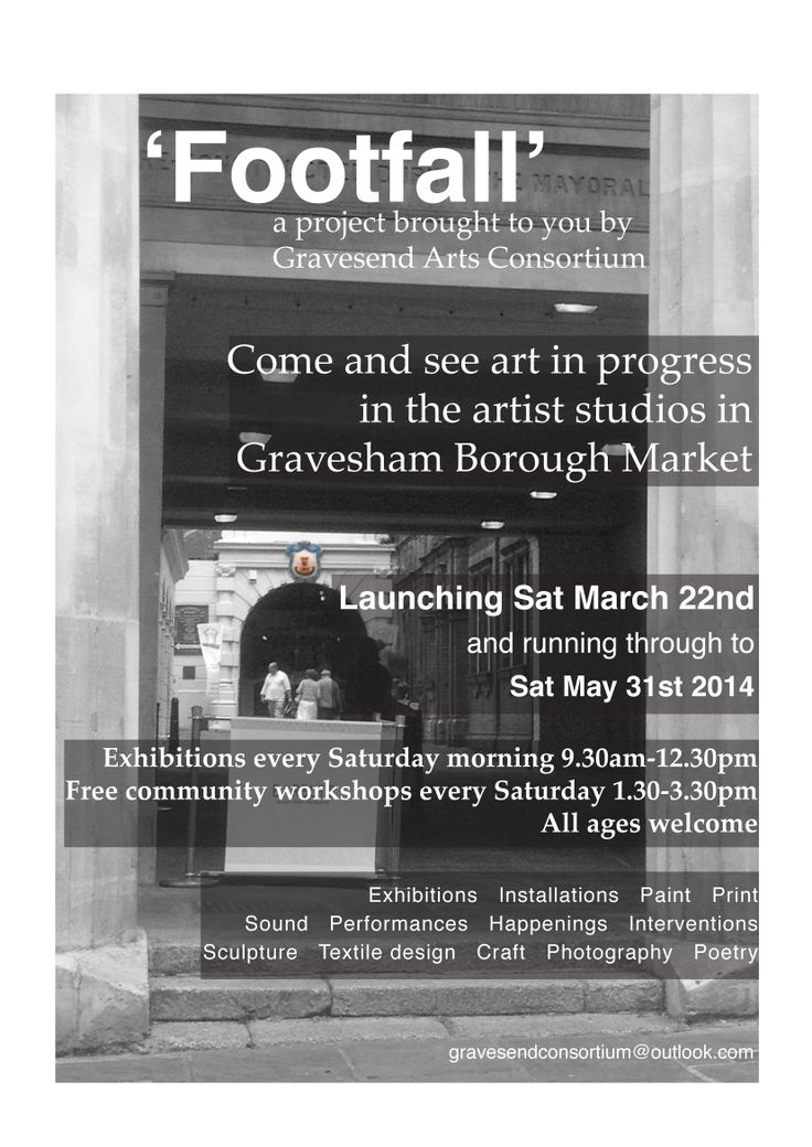 """A new and exciting art project that Big Bird Little Bird will be taking part in. I shall be """"in residence"""" from 24th-29th March 2014, Gravesham Borough Market, High Street, Gravesend, Kent"""
