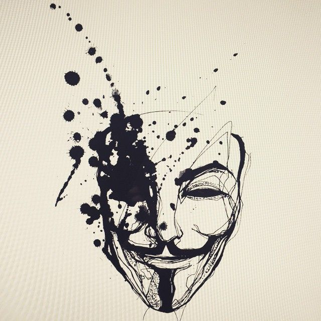 "1,509 Likes, 25 Comments - NADi (@tattooer_nadi) on Instagram: ""Anonymous mask ."""